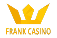frank casino logo i gull