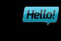 hello casino logo gjennomsiktig og blå