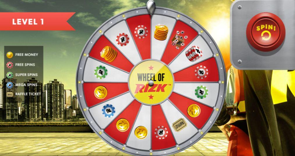 Wheel of Rizk lykkehjul fra Rizk
